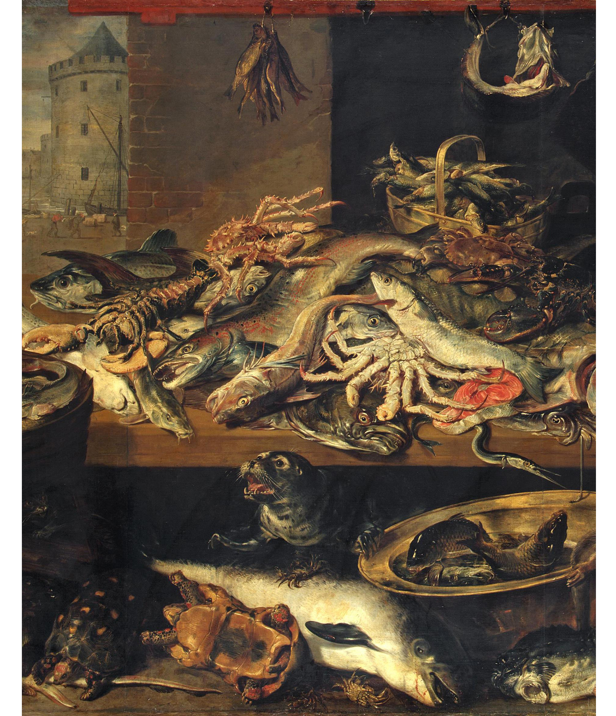 Frans Snyders (1579 - 1657) Fish Shop, 1621