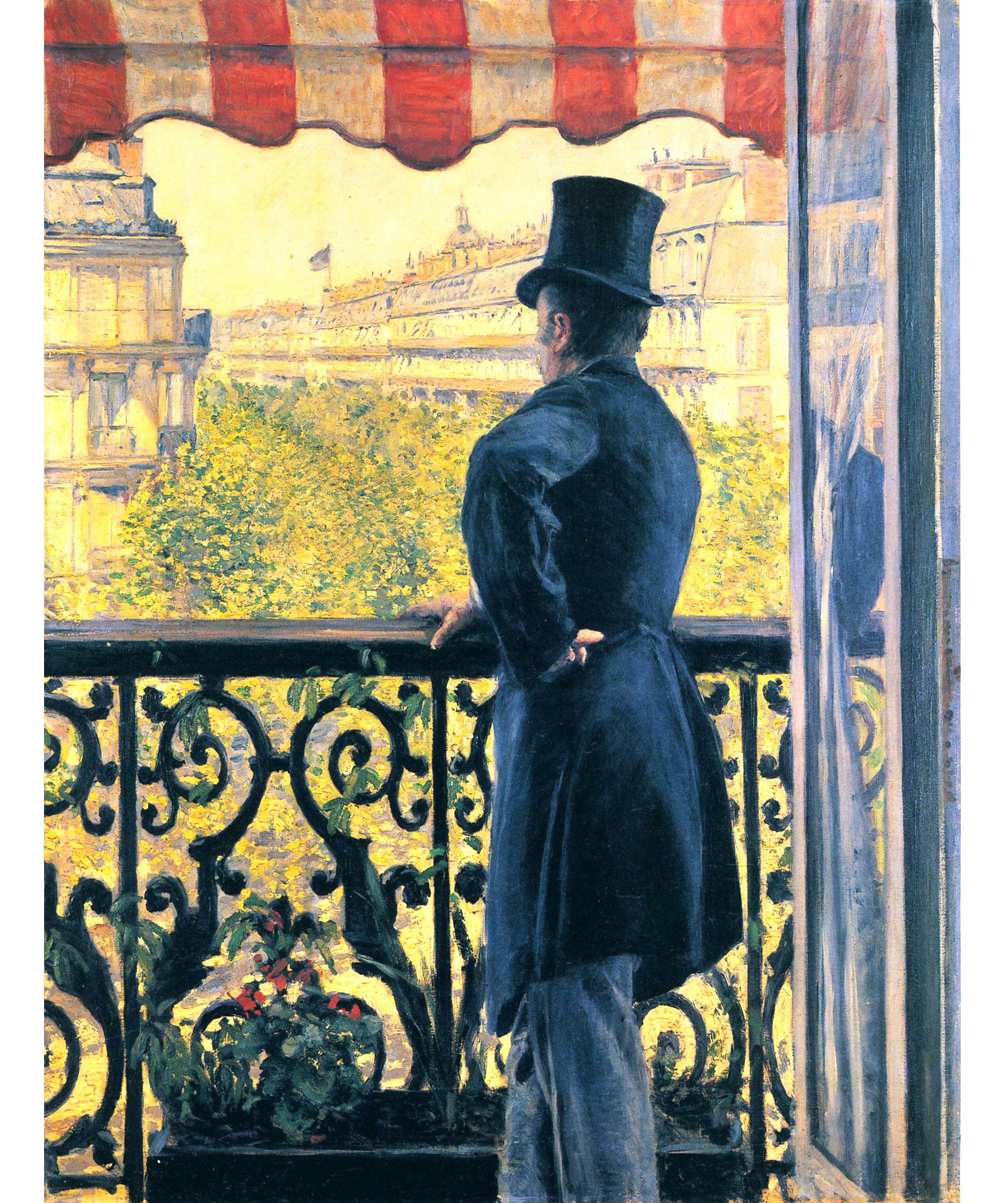 Gustave Caillebotte (Paris, 1848, 1894) Man on Balcony, Boulevard Haussmann, 1880