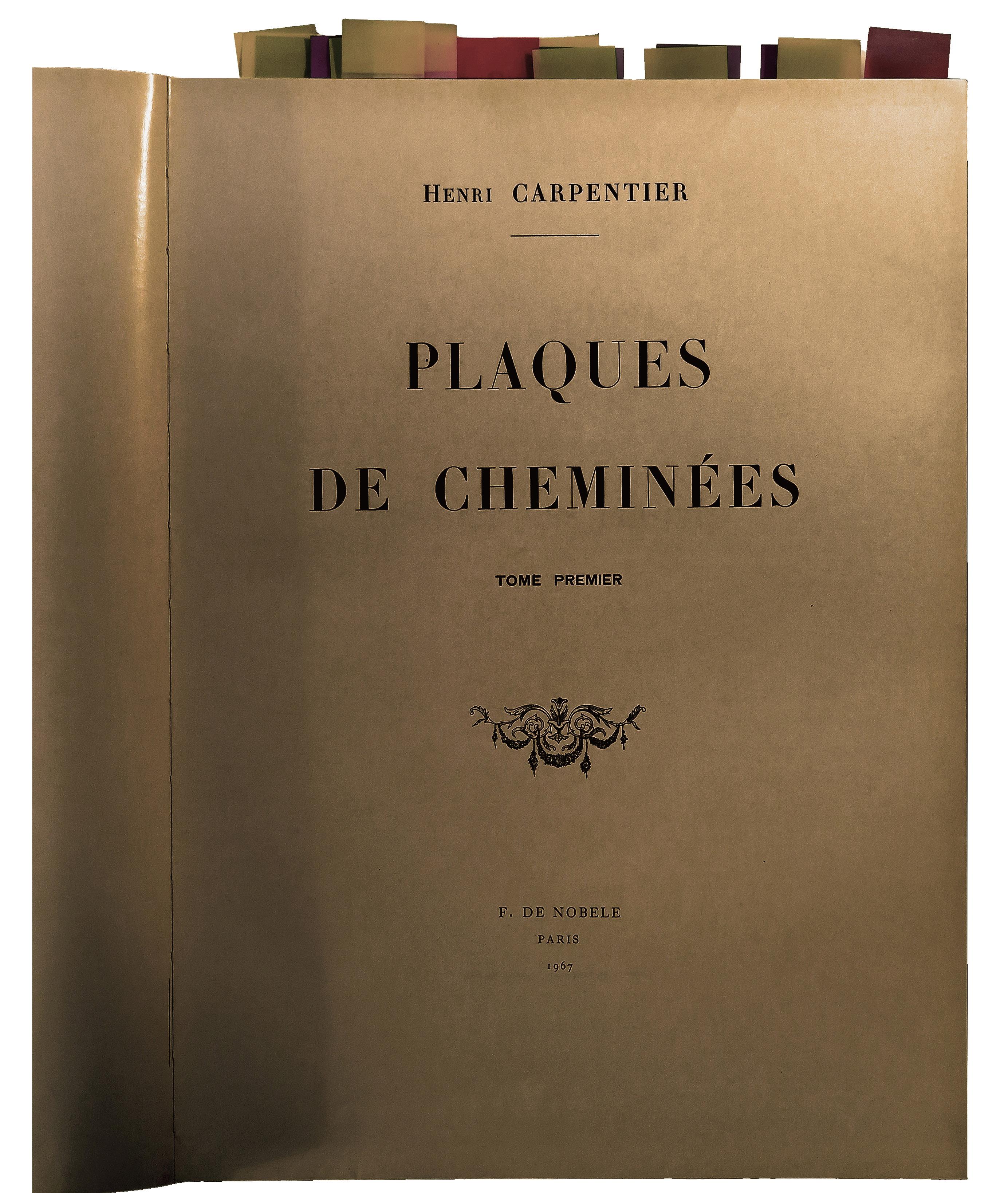 Plaques de cheminées, Auteur Carpentier Henri, Editeur De Nobele